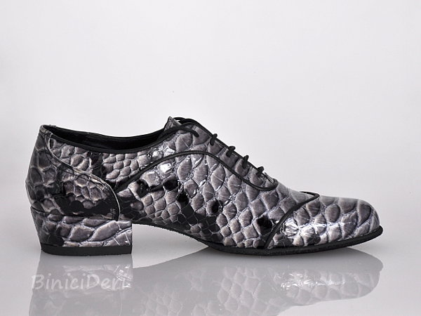 Men's tango shoe - Black Cobra