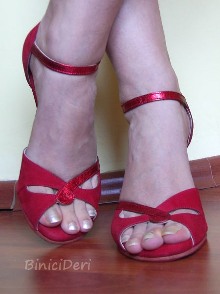 Women's tango shoe - Red