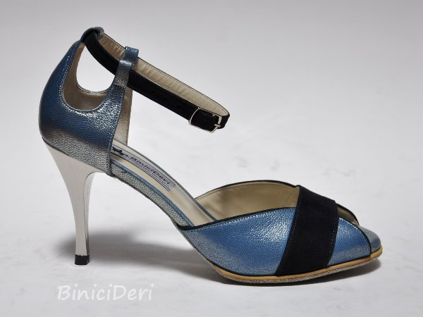 Women's tango shoe - Sky blue jewel