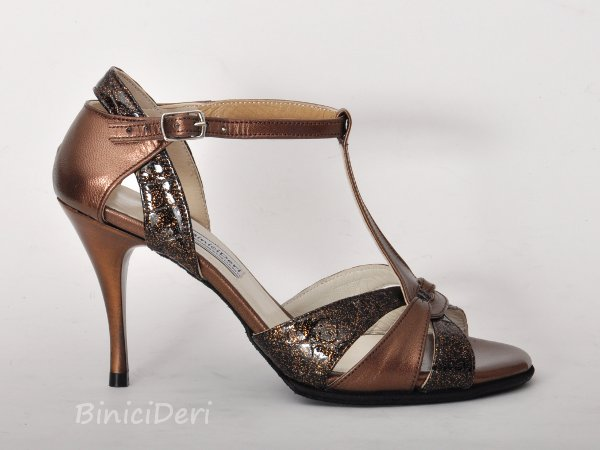Women's tango shoe - Brown/Copper