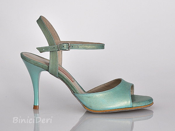 Women's tango sandal shoe - Water green pearl