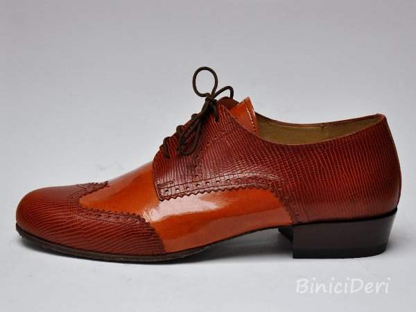 Men's tango shoe - Tabacco brown