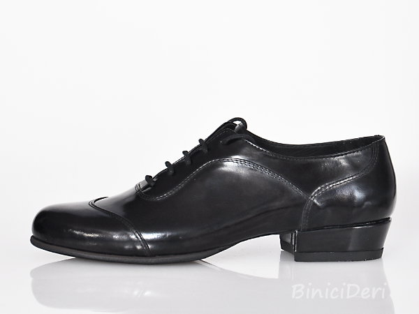 Men's tango shoe - Black Patent