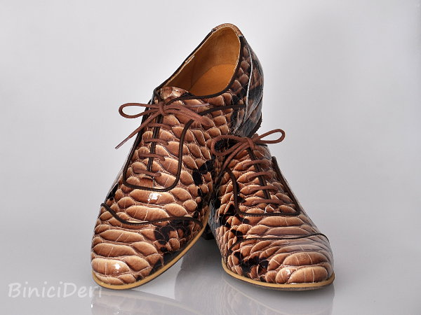 Men's tango shoe - Brown Cobra