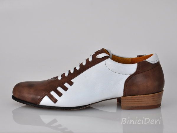 Men's sporty tango shoe - Brown/White