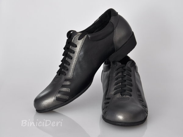 Men's sporty tango shoe - Anthracite & Black