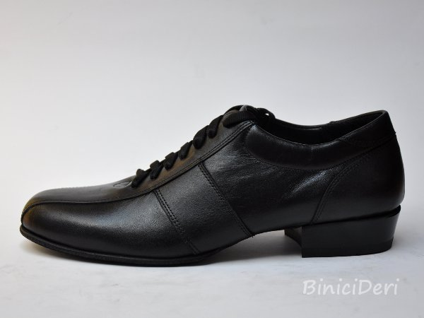 Men's sporty tango shoe - leather black