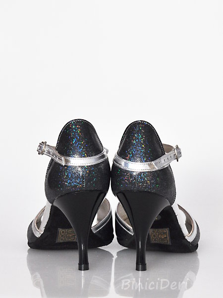 Women's tango shoe - Silver & fume color (11pp)