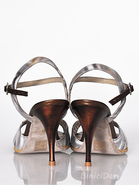 Women's tango sandal shoe - Gold spray & copper