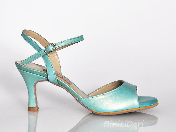 Women's tango sandal shoe - Water green pearl 11pp