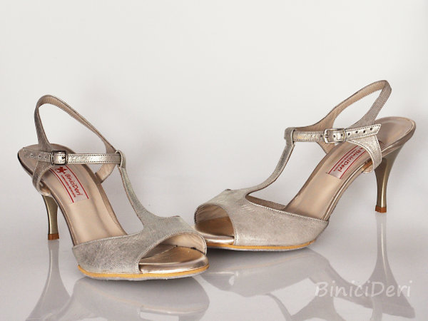 Women's tango sandal shoe - Light Gold - 11pp - Click Image to Close