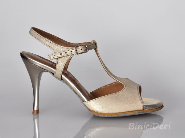 Women's tango sandal shoe - Light Gold - 11pp
