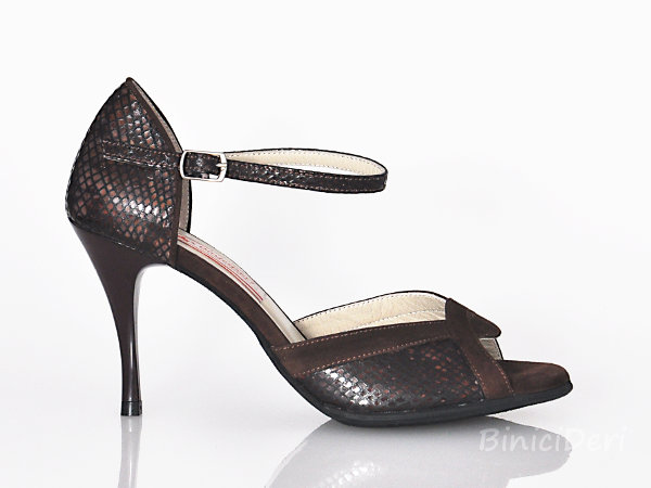 Women's tango shoe - Brown Print